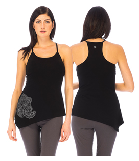 Asha Yoga Top 95% Organic Cotton 5% Elastane - Black