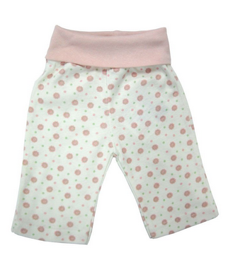 Baby rolled waist pant - Girl Dots, pink