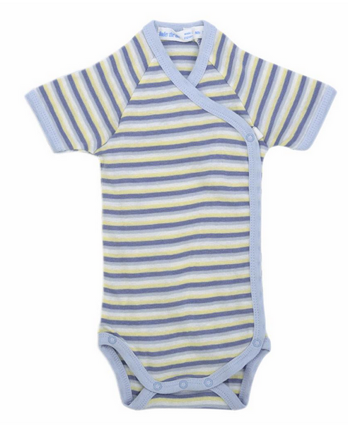 Babybody Side Snap 24/7 - Boy Stripes, blue