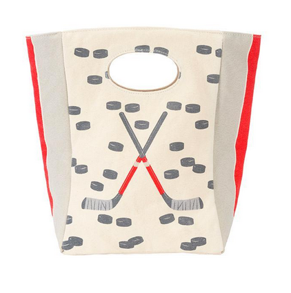 "100% Organic Cotton Lunch Bag ""Hockey"""