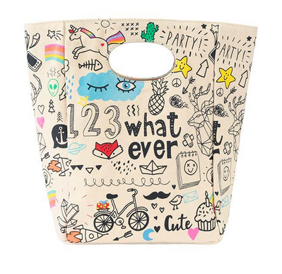 "100% Organic Cotton Lunch Bag ""Whatever"""