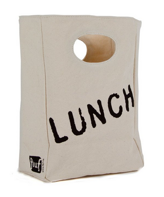 "100% Organic Cotton Lunch Bag ""Lunch"""