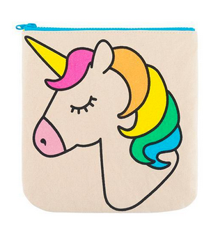 "100% Organic Cotton Zip Pouch ""Unicorn"""