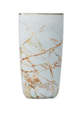 Insulated Stainless Steel Tumbler - White Marble