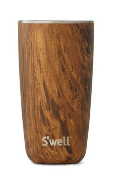 Insulated Stainless Steel Tumbler - Teakwood