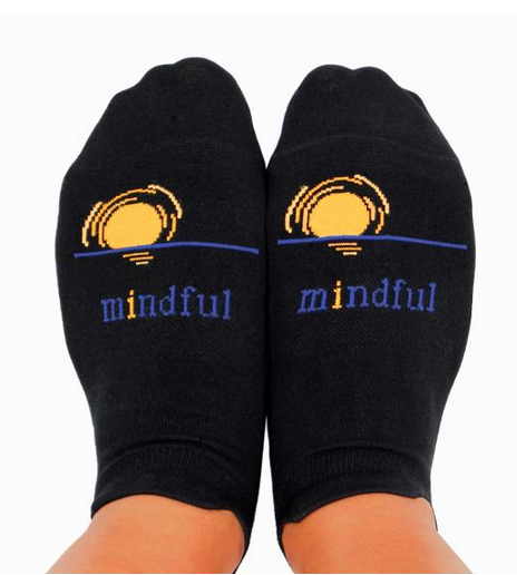 YOGA SOCKS WITH GRIPS - Mindful - Sunset Aura