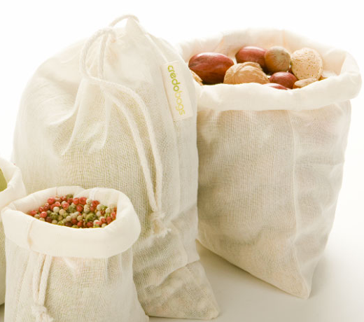 Bulk or Bread Bag, 100% Organic Cotton, Large