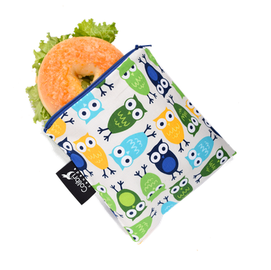 Reusable Snack Bag - Owls, Large
