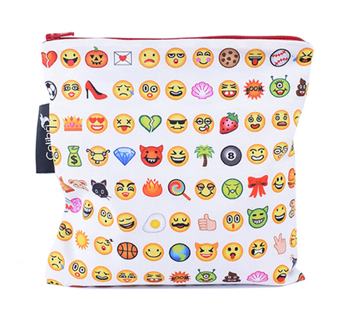 Reusable Snack Bag - Emoji, Large