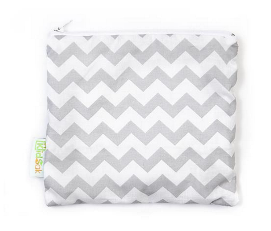Reusable Snack Bag, Large - Zigzag