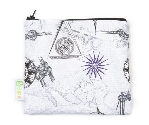 Reusable Snack Bag, Large - Geography