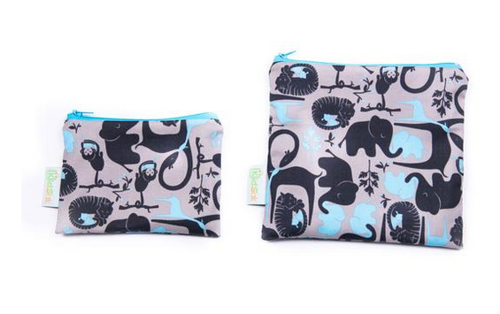 Reusable Snack Bag, Large - Animals