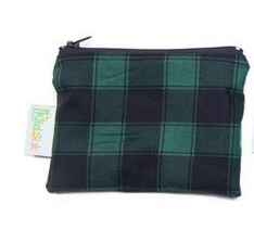Reusable Snack Bag, Small - Green Plaid