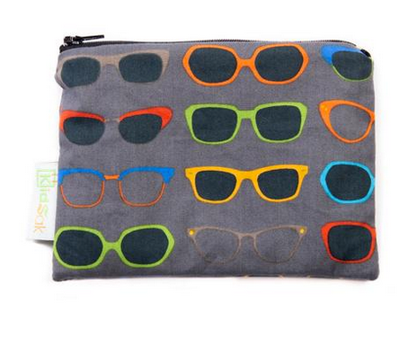 Reusable Snack Bag, Small - Glasses