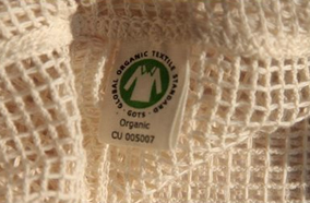 Organic Cotton Mesh Medium Produce Bag