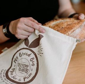 Conservation Bread Bag 55% Hemp / 45% Organic Cotton