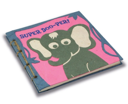 "Twine Journal Elephant Face ""Super DOO-per!"""