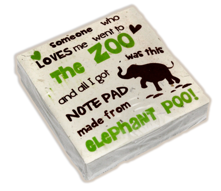 "Scratch Pad Elephant ""Someone who loves me went to the zoo..."""