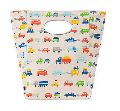 "100% Organic Cotton Lunch Bag ""Cars"""