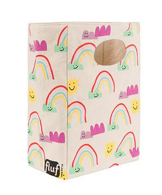 "100% Organic Cotton Lunch Bag ""Rainbow"""