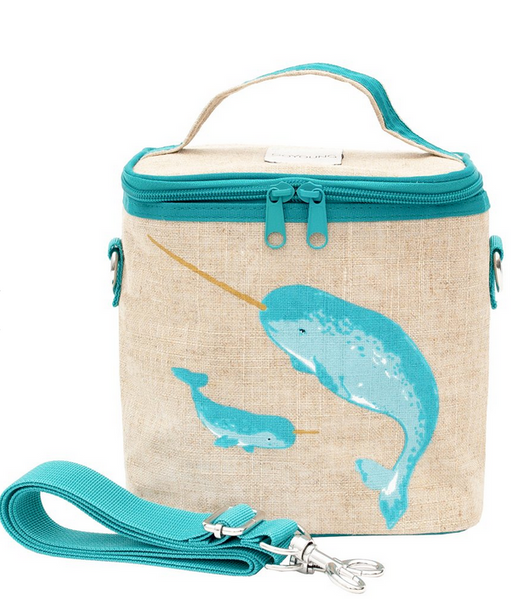 Insulated Teal Narwhal Small Cooler Bag