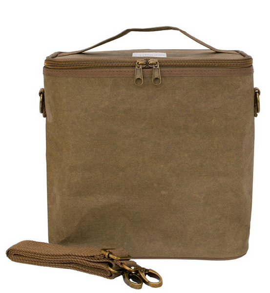 Insulated Lunch Poche, Olive Paper