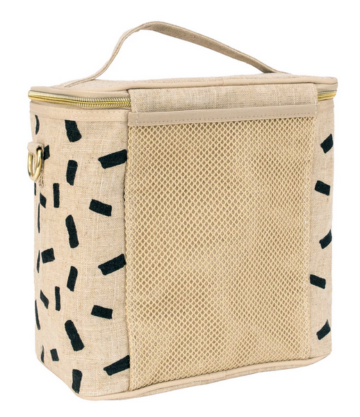Insulated Lunch Poche, Linen Block