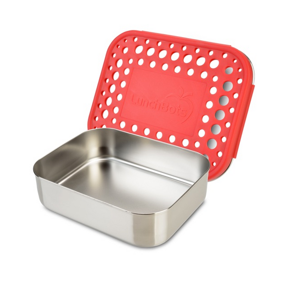 Stainless Steel Uno Container - Red Dots