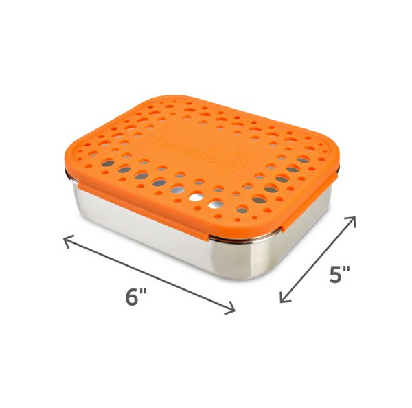 Stainless Steel Uno Container - Orange Dots