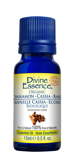"PURE ESSENTIAL OIL Organic ""Cinnamon Cassia"" (Bark)"