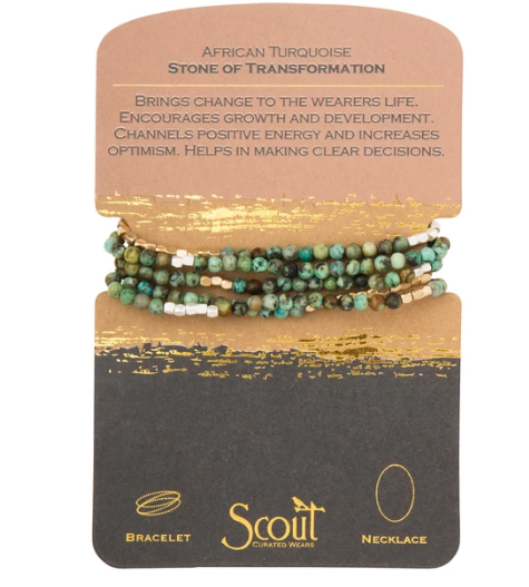 Stone Wrap - African Turquoise / Stone of Transformation