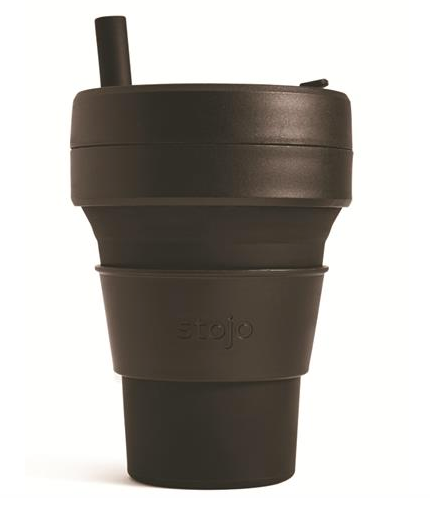 stojo Collapsible Biggie Cup, Black