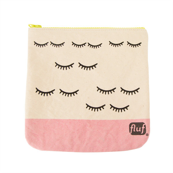 "100% Organic Cotton Zip Pouch ""Wink"""