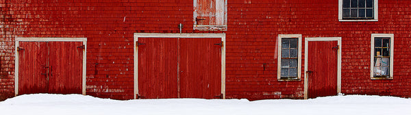 "Ernest Cadegan Photography ""Red Barn in Winter"""