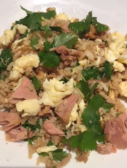 Tuna, egg and coriander jasmine rice