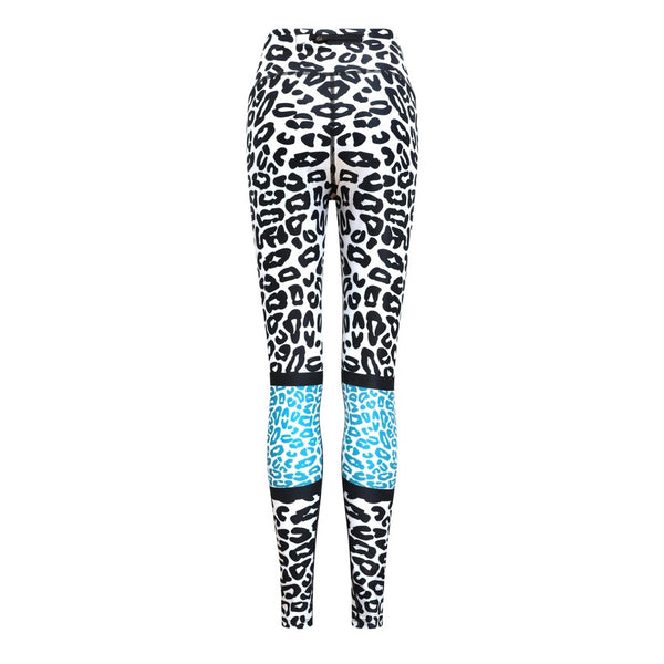 Teal Leopard Leggings - by Bellum Active