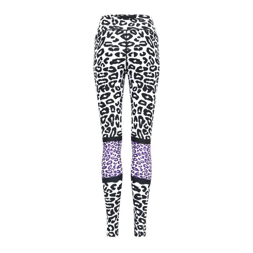 Purple leopard leggings - by Bellum Active
