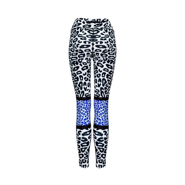 Blue Leopard Leggings - by Bellum Active