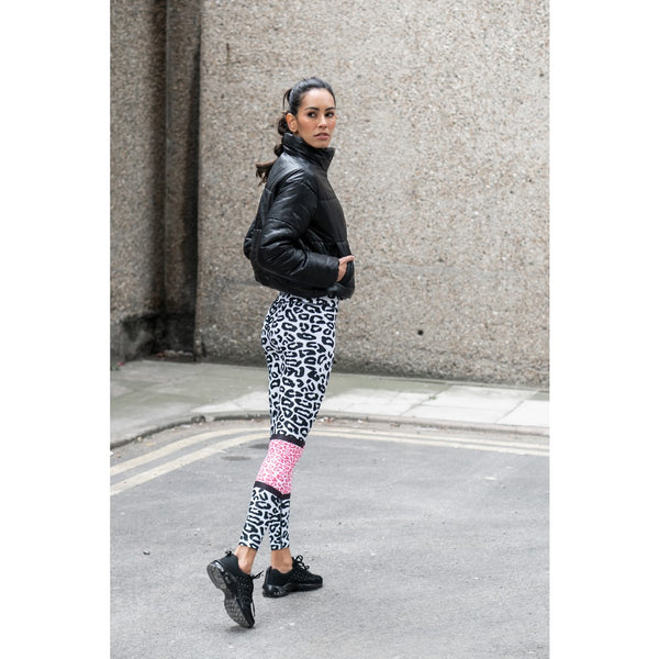 Coral Leopard Leggings - by Bellum Active