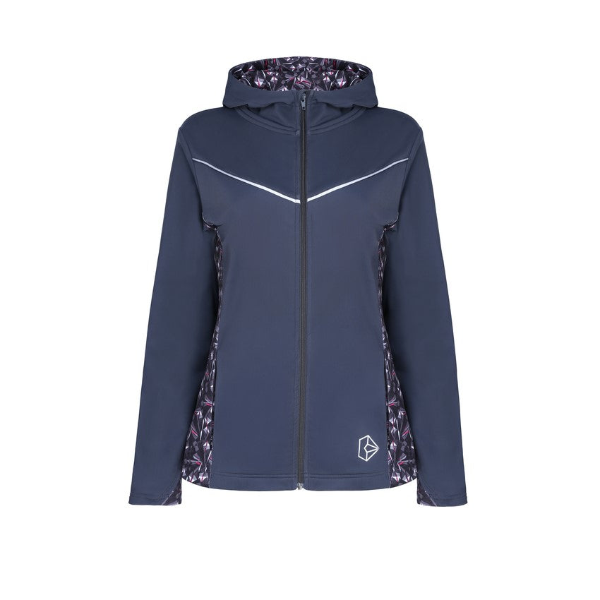 Diamond Luxe Grey Hooded Jacket