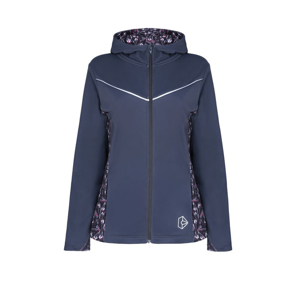 Diamond Luxe Grey Hooded Jacket - by Bellum Active