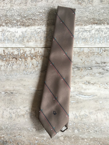 Taupe Christian Dior tie
