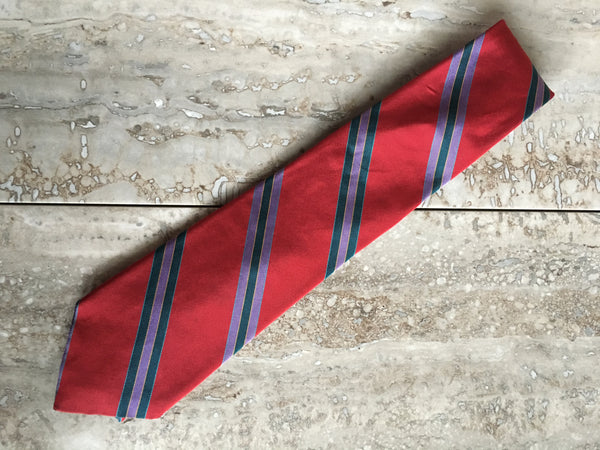 Briar red stripe necktie