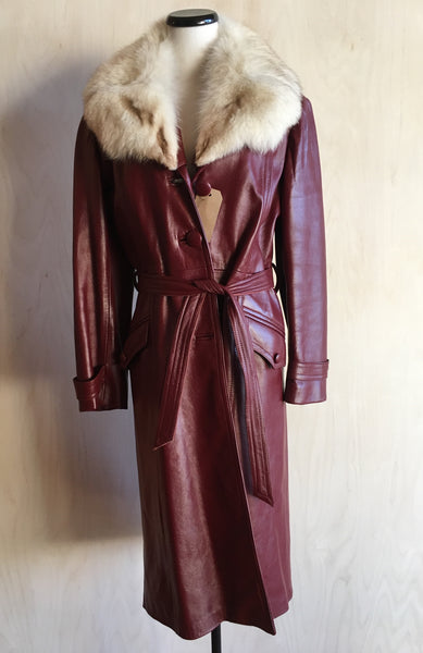 70s leather with fur collar