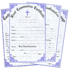 Church Certificates and Forms