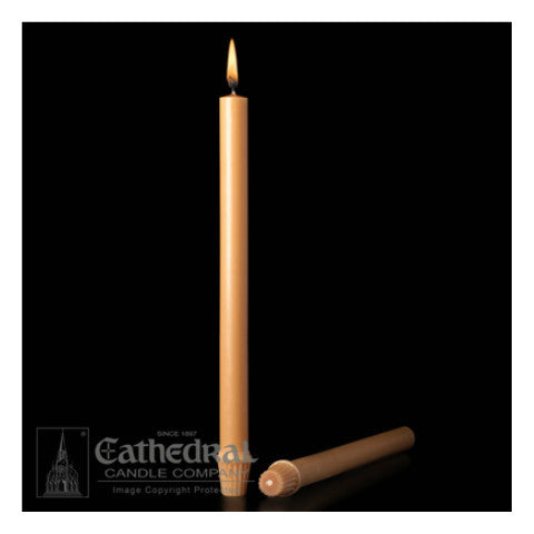 51% Beeswax Unbleached Altar Candles