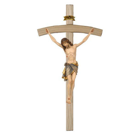 722000 Crucifix Siena Blue - Cross Bent