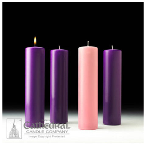 Stearine Pillar Cathedral Advent Candle Sets