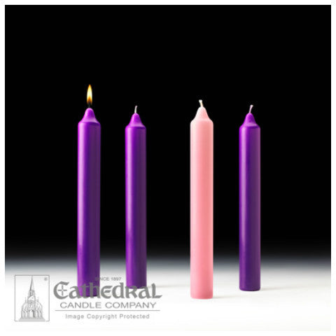 Stearine Cathedral Advent Candle Sets