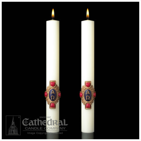 Christ Victorious Complementing Altar Candles